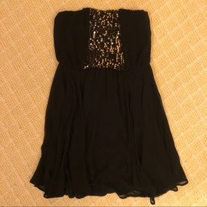 Lush sequined design black dress